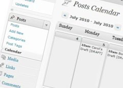 Editorial Blog Calendar Plugin