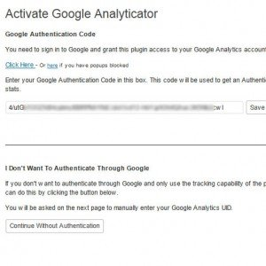 How to activate Google Analyticator on your WordPress site