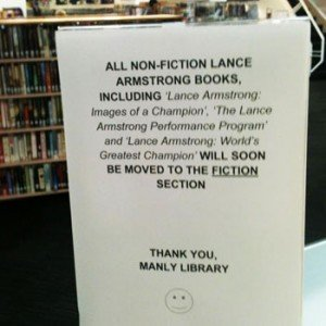 Manly Library Lance Armstrong