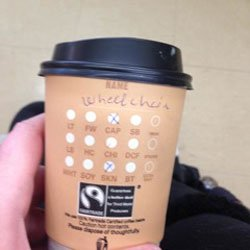 Wheelchair name on cup INDAILY Image by Natalie