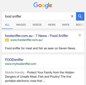 Food Sniffer AdWords