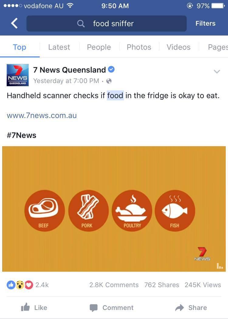 Food Sniffer Facebook