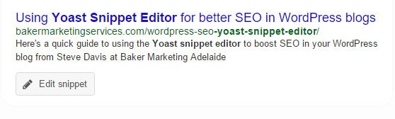 Reviewing your yoast snippet editor
