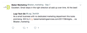 Baker Marketing Twitter